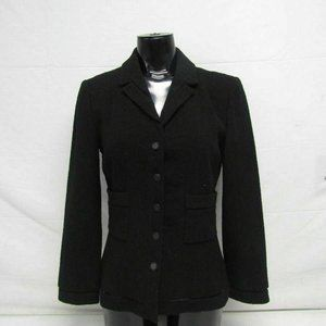 Chanel Women's FR 36/US S Wool Blazer Black
